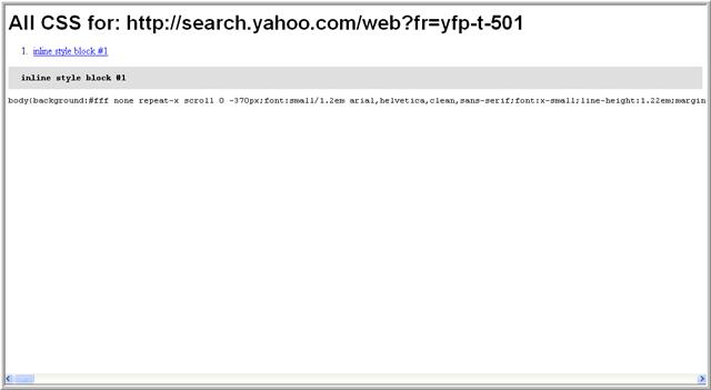 captura de pantalla del informe que obtendremos usando la herramienta All CSS.